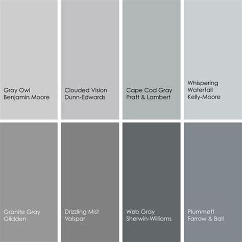 shades of grey color chart shades of gray paint colors gray the perfect gray pinterest cape cod love the and grey