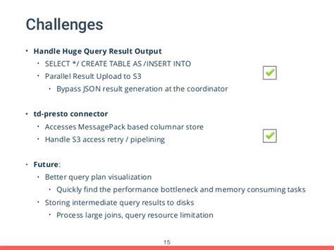 real sql queries 50 challenges books presto treasure data presto meetup boston 2015