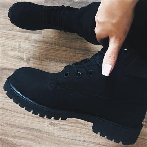black tumblr black timberland boots tumblr