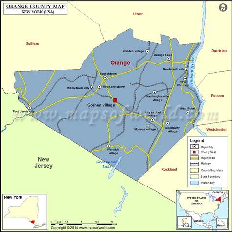orange county usa map map of orange county new york