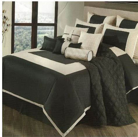 tan and black comforter sets sanders park avenue 12 piece king comforter set black tan