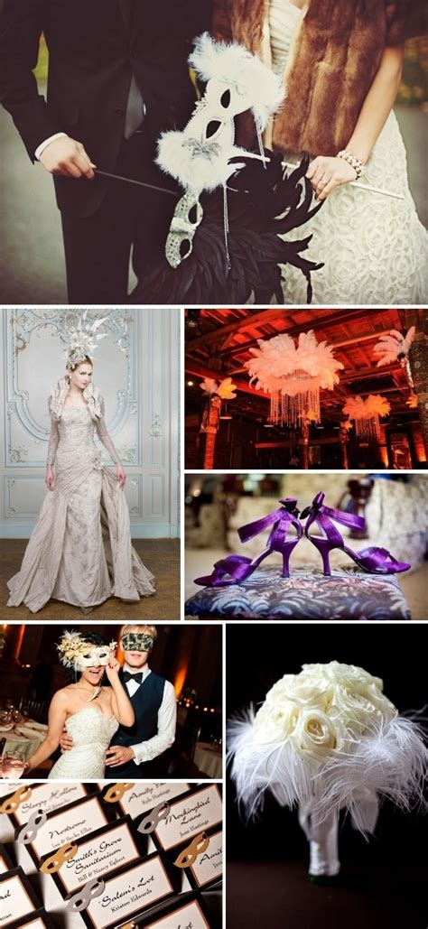 a masquerade wedding inspiration board for a magical