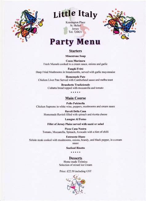 set party menu