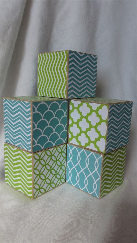 decorating with lime green accents megan morris aqua lime green blue chevron 5 wood blocks modern boys