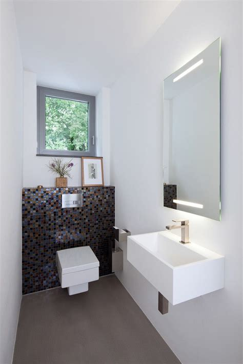 kleine bad organisation ideen kleines g 228 ste wc modern stil f 252 r g 228 stetoilette mit fenster