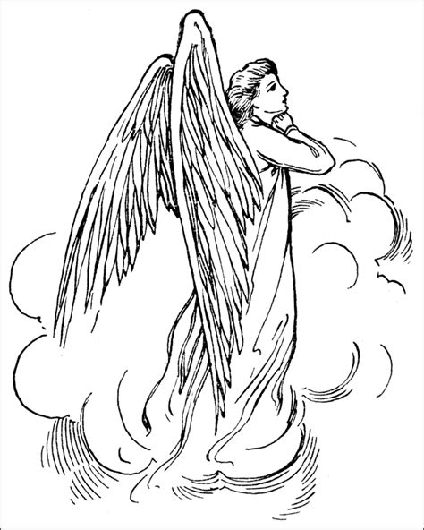 realistic angel coloring pages angel coloring pages for adults coloring home
