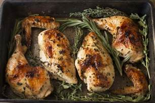 roasted chicken with white wine fresh herbs cake n knife
