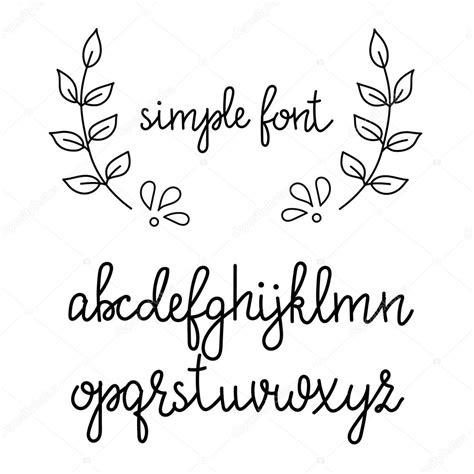 imagenes vectoriales simples letra cursiva manuscrita simple archivo im 225 genes