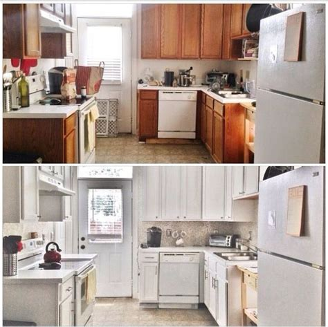 before and after updating a before after 387 budget kitchen update hometalk