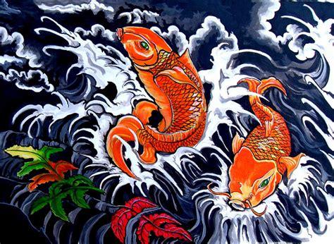 sket tattoo ikan koi lukisan ikan koi menurut feng sui lamudi