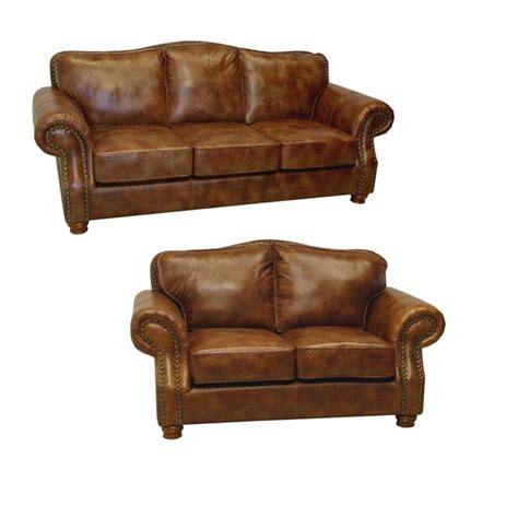 loveseat and sofa brandon distressed whiskey italian leather sofa and