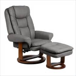 Recliner With Ottoman Mac Motion Chairs Nubuck Bonded Leather Swivel Recliner With Ottoman In Gun Metal Slate 802 28 103