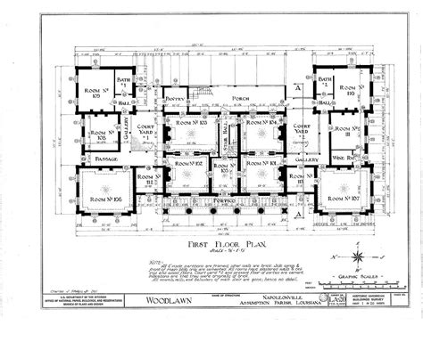 Floor Plans Woodlawn Plantation Mansion Napoleonville Louisiana Plantation House Plans