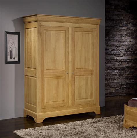 armoire chene massif 2 portes armoire 2 portes en ch 234 ne massif de style louis philippe