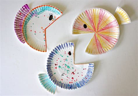 Simple Crafts With Paper Plates - paper plate fish made everyday