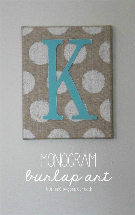 monogrammed home decor monogrammed burlap art home decor contributor sugar