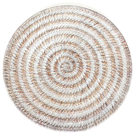 rattan placemats set of 4 white style