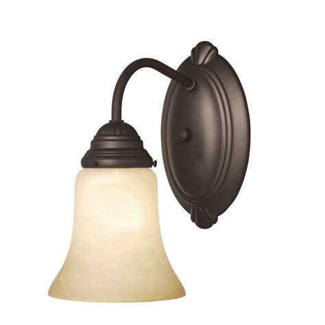 westinghouse 1 light oyster bronze interior wall fixture