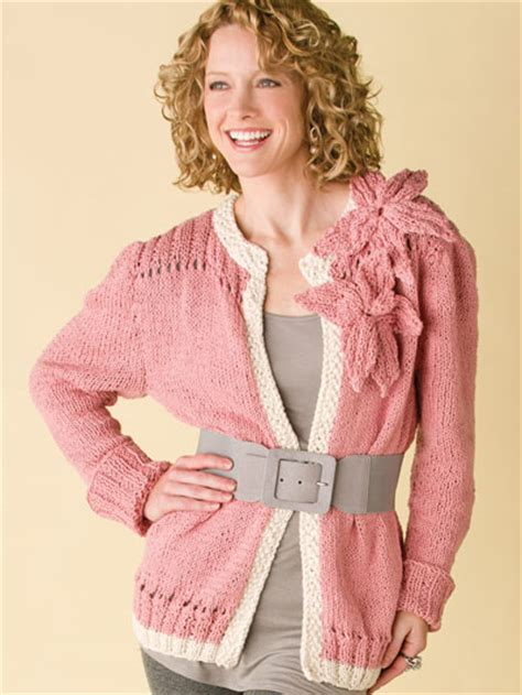 free cardigan knitting patterns retro flower cardi