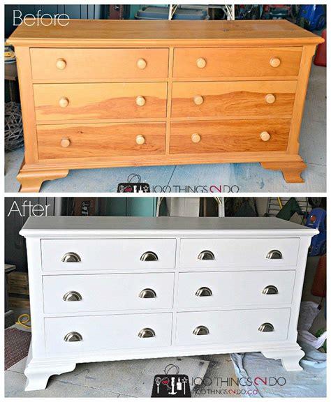 dresser makeover knotty pine organization