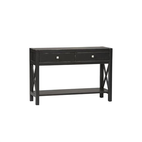 linon collection antique black console table ebay
