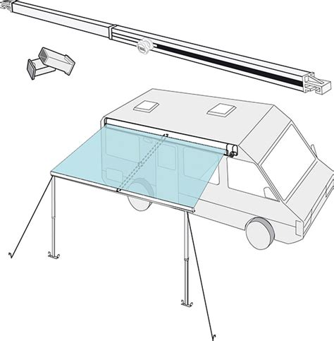 fiamma awning f45 accessories fiamma tension rafter for f45 and f65 awnings
