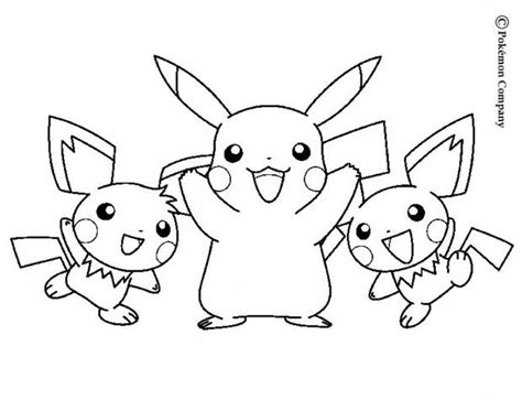 coloring pages pikachu and friends pikachu and friends coloring pages hellokids com