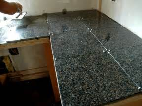 Granite Tile Kitchen Countertops How To Install A Granite Tile Kitchen Countertop How Tos