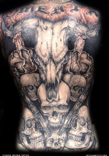 skull back tattoos skull back artists org