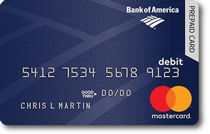 Bank Of America Prepaid Gift Card - kansas unemployment benefit card