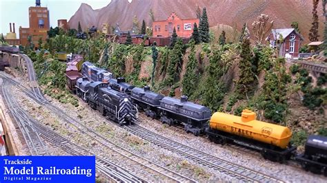 model railroader video layout tour model railroad layout tour by trackside youtube