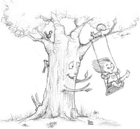drawing of swing swing sketched out