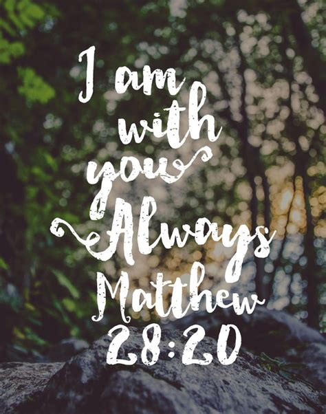 printable inspirational quotes from the bible 5 00 bible verse print i am with you always matthew 28