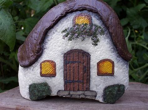 painted rock houses rock painting ideas little houses for miniature garden design