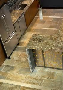 Flagstone Countertop by Copper Ash And Interiors On