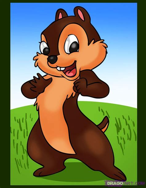 schip and chip how to draw chip from chip and dale step by step disney