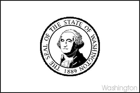 Washington State Flag Coloring Page washington state flag coloring pages usa for
