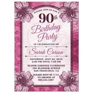 90 Birthday Invitation Templates 90th birthday invitations invitations templates