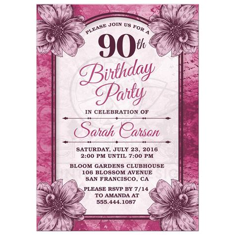 birthday card newspaper templates 90th birthday invitations invitations templates