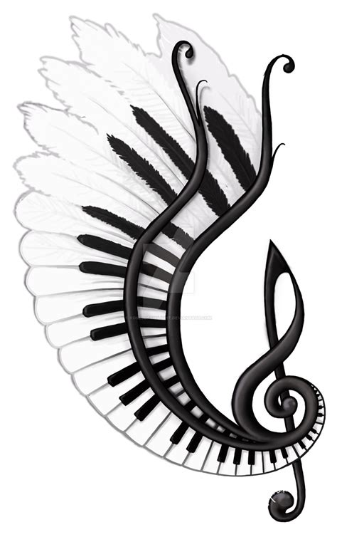 music tattoo png music gives you wings by rosesoftwilight on deviantart
