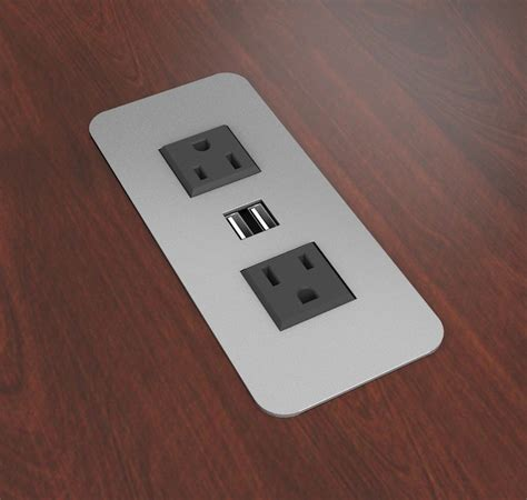 desk with electrical outlets surface mount power outlets with usb charging ports