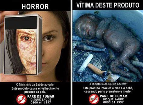 imagenes fuertes sobre el tabaquismo fumar tiene consecuencias letales publicidad anti tabaco