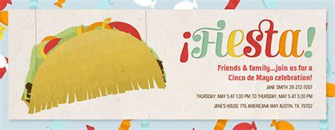Cinco De Mayo Free Online Invitations Taco Invitation Template