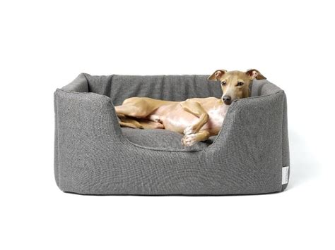 stylish dog beds designer dog beds canada dog bed with dotty taupe mattress