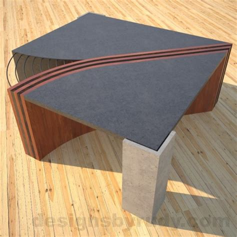 Concrete And Wood Coffee Table Concrete Coffee Table Unzipped With Striped Solid Wood