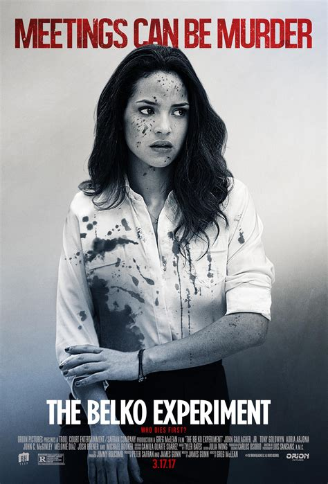 adria arjona belko experiment the belko experiment 2017 poster 1 trailer addict