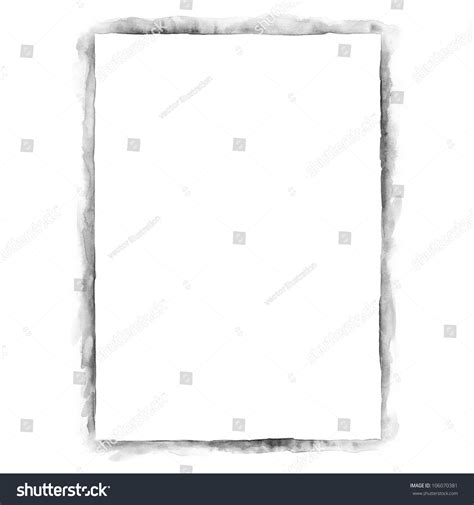 grayscale template white blank template paper sheet for presentation