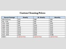 Prices For: List Of Prices For Cleaning Services Merry Maids Cleaning Service Prices