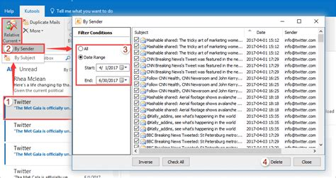 Search For Unread Emails In Outlook How To Delete All Unread Emails In Outlook