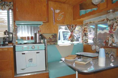 Vintage Travel Trailer Interior Pictures by 1962 Shasta Airflyte Trailer With Beautiful Seafoam And